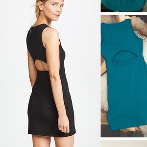 Susana Monaco Slit Back Blue Green Mini Dress Sz S